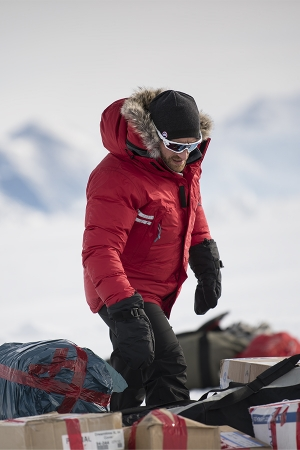 Ben Saunders at base camp in Antarctica