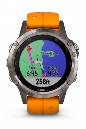 The Garmin Fenix 5 Plus Sapphire Ti uses TopoActive mapping with Garmin's own Trendline popularity routing
