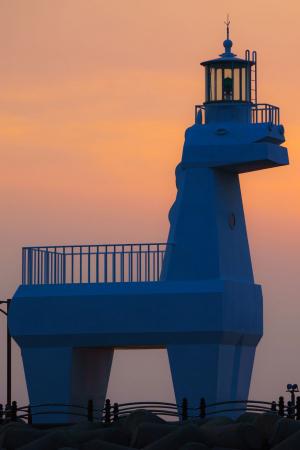 A horse-shaped lighthouse on Jeju, South Korea
