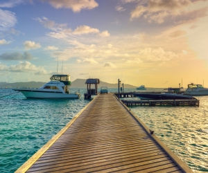 The dock at Petit St Vincent