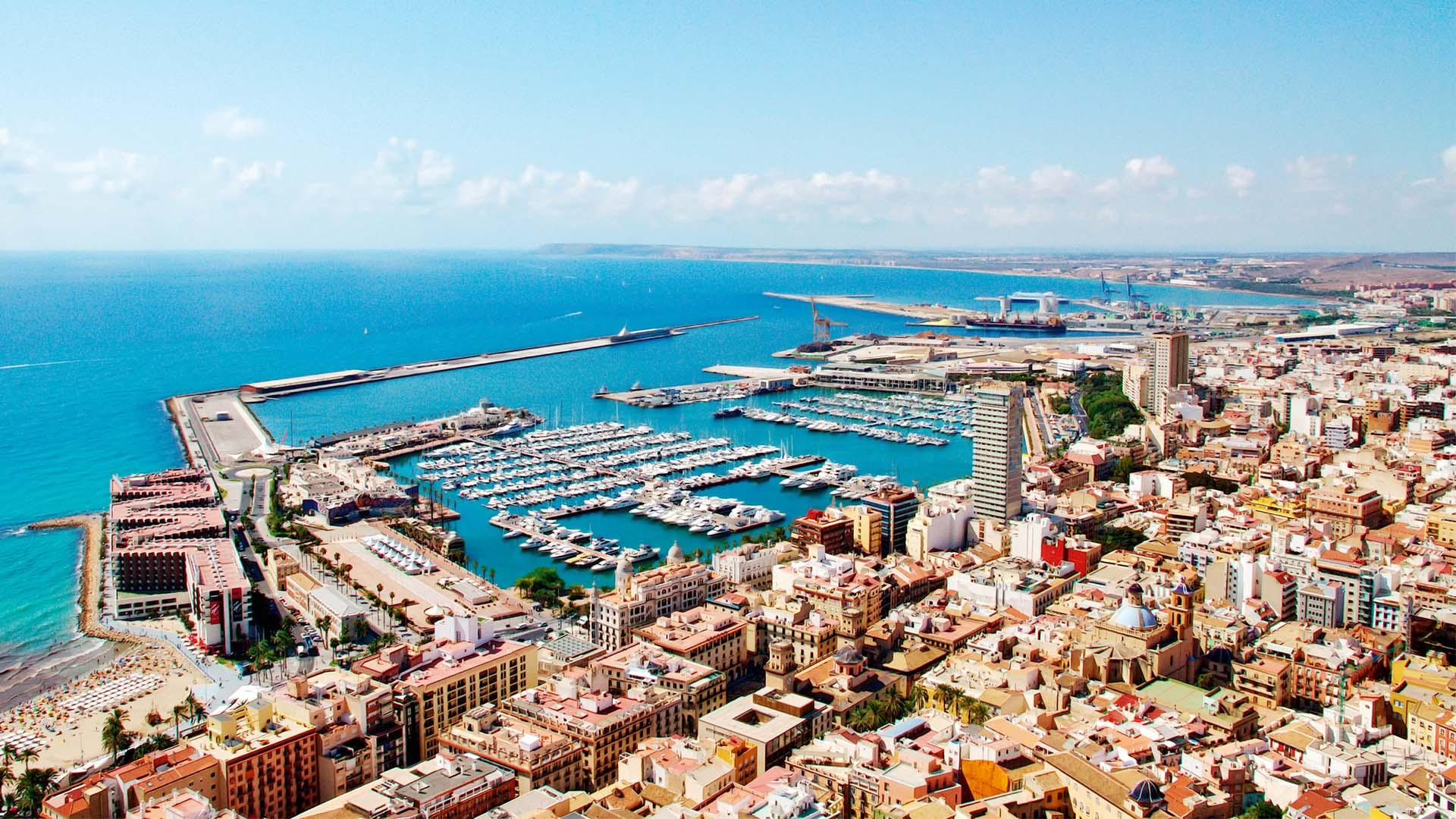 Alicante harbour, Spain