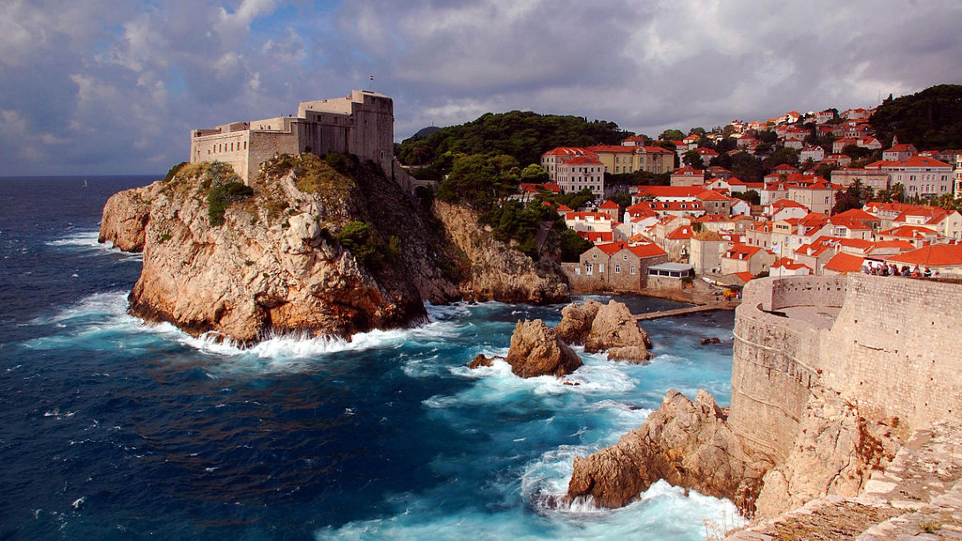 The Adriatic coastal city of Dubrovnik, Croatia