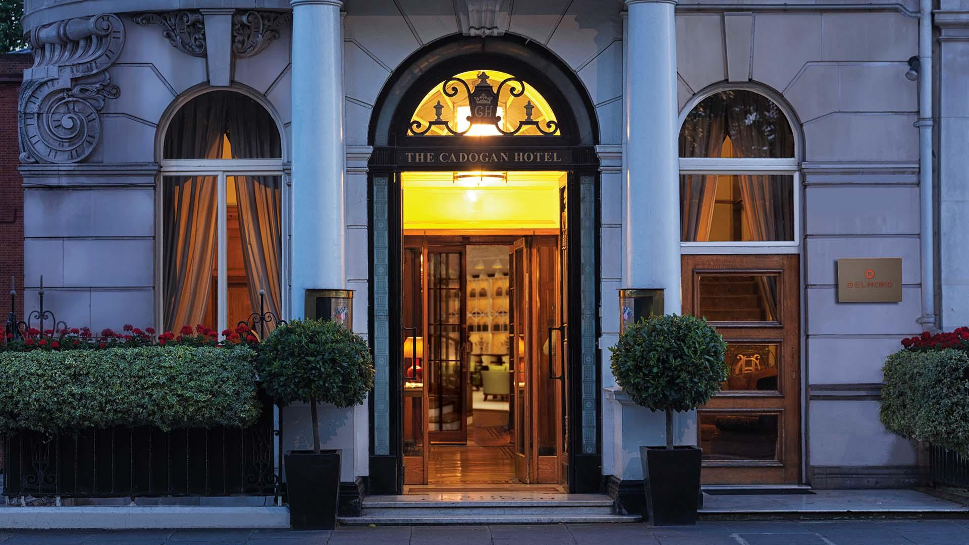 Entrance of the newly refurshbished Belmond Cadogan Hotel in London