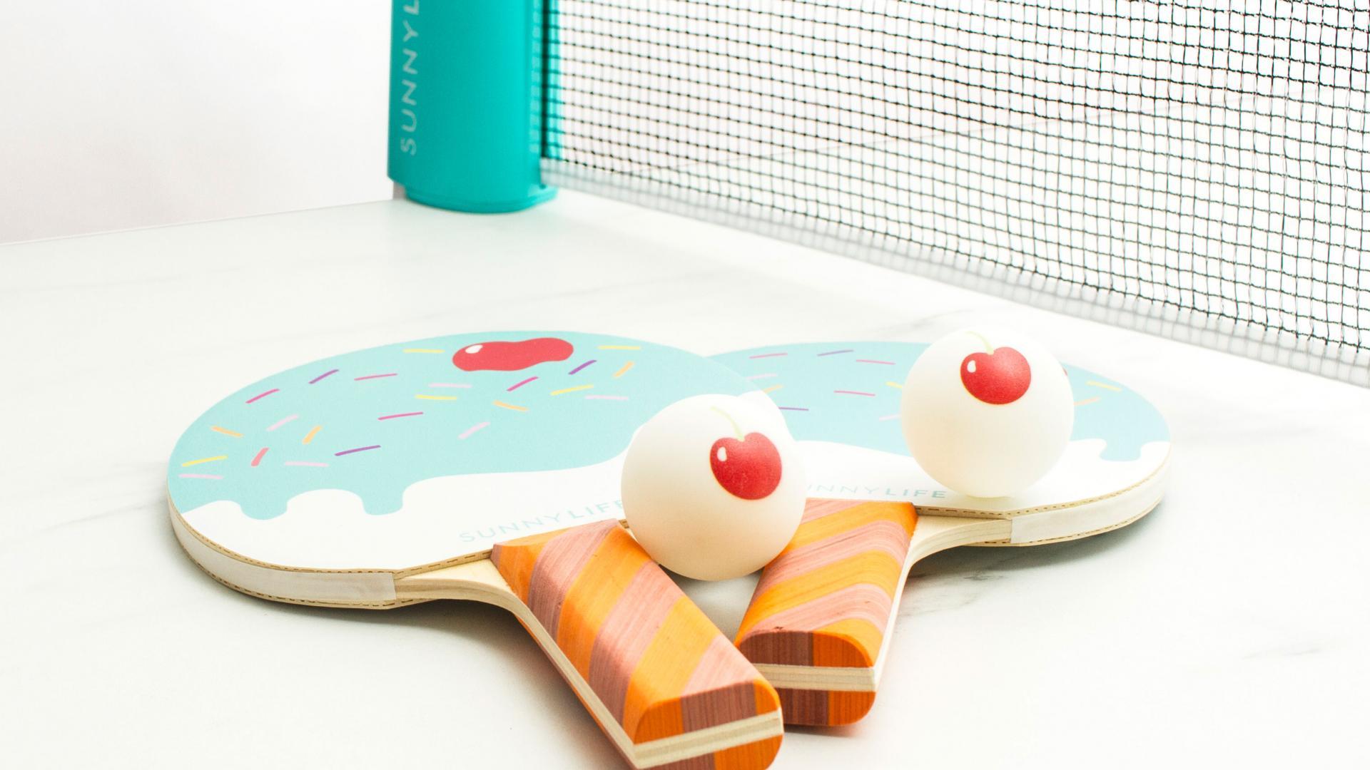 Ice cream ping pong