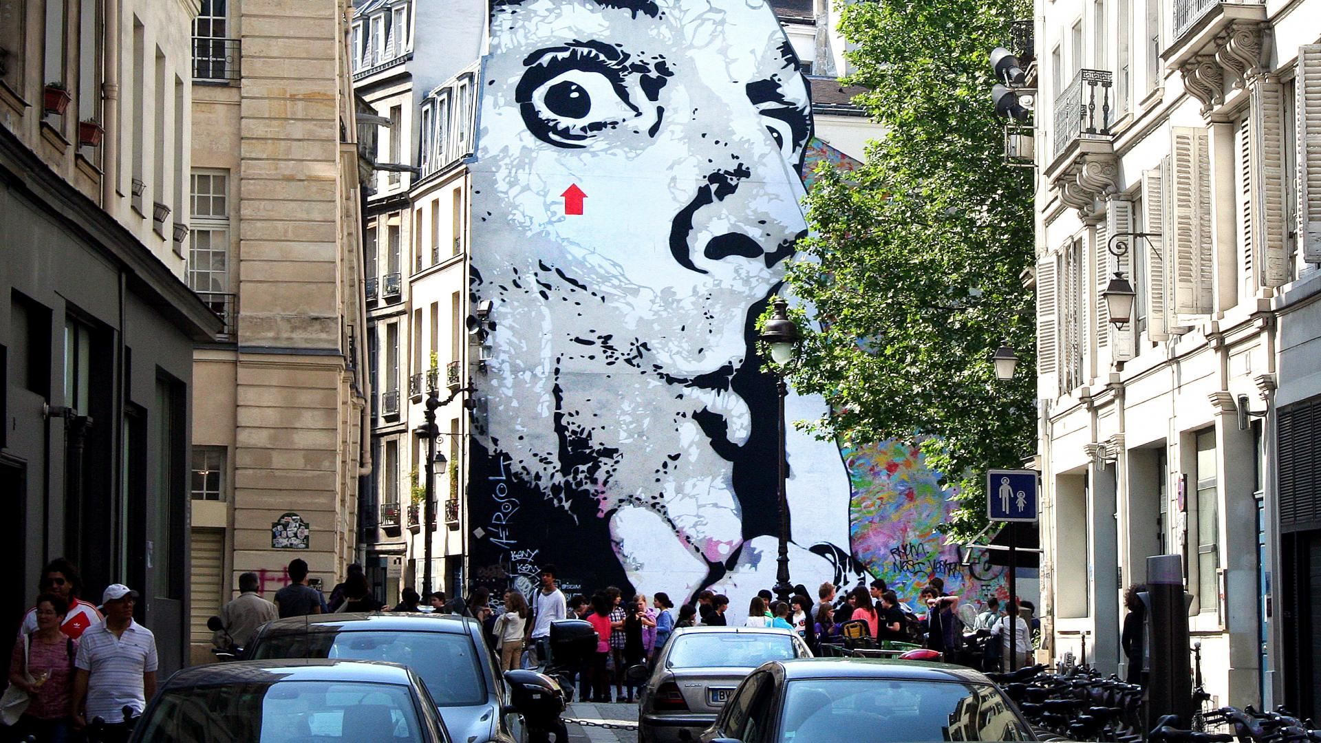 Street art in Paris, France