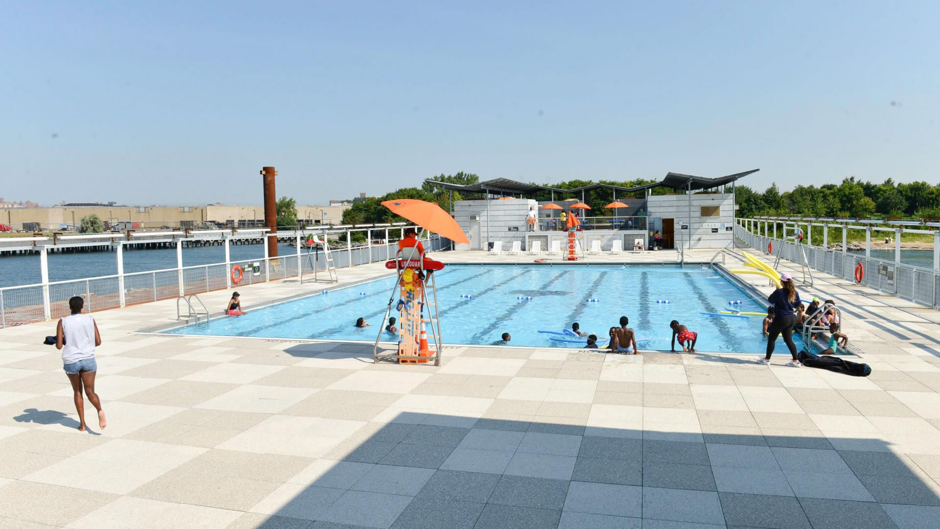 Barretto Point Floating Pool in The Bronx, New York City