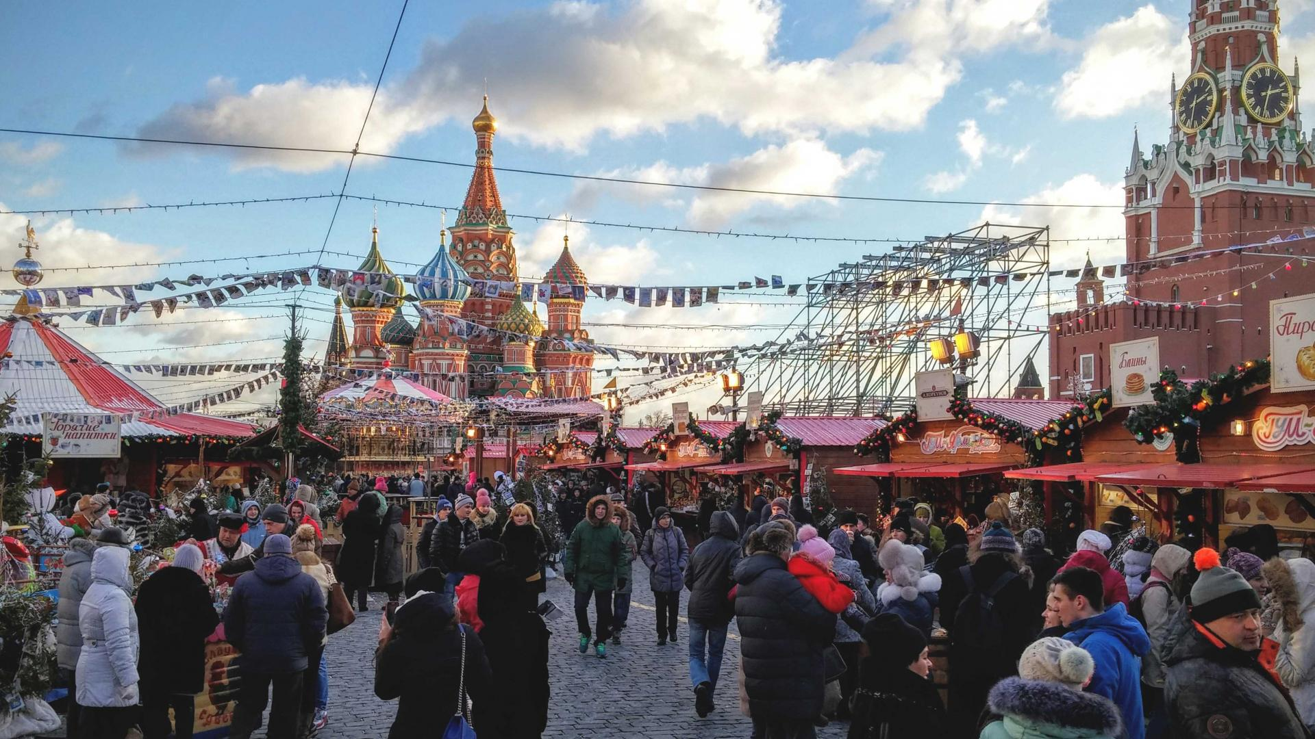 Best food holidays: Red Square, Moscow, Russia
