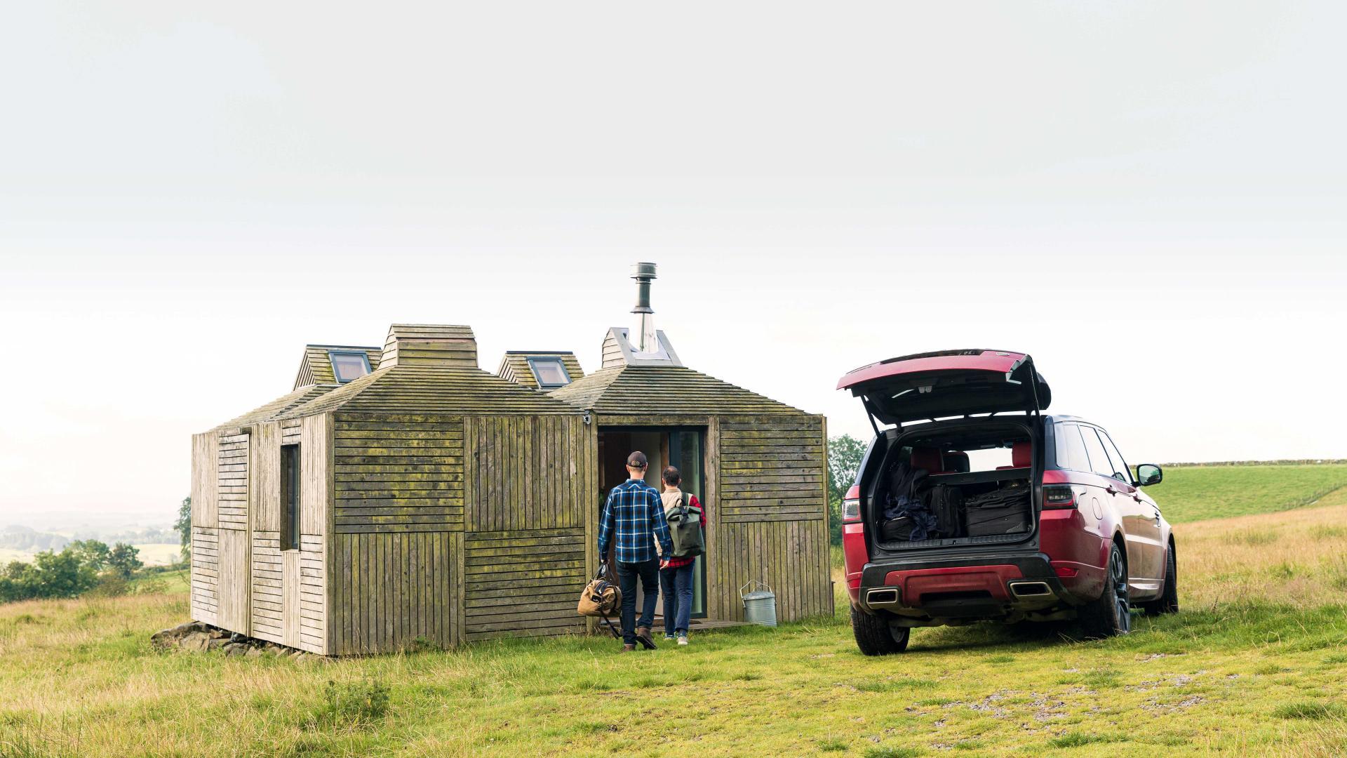 Unloading at Brockloch Bothy, Galloway, Scotland