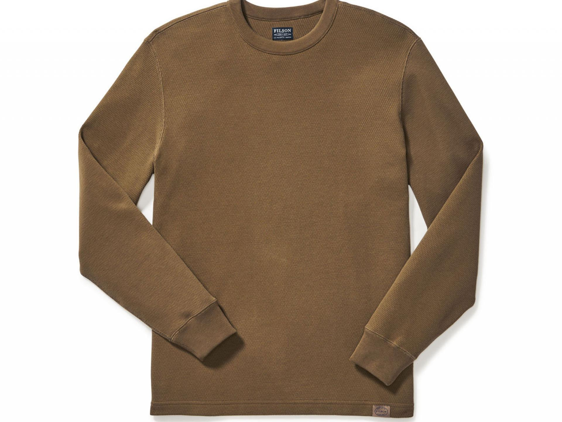 Filson waffle knit thermal crew