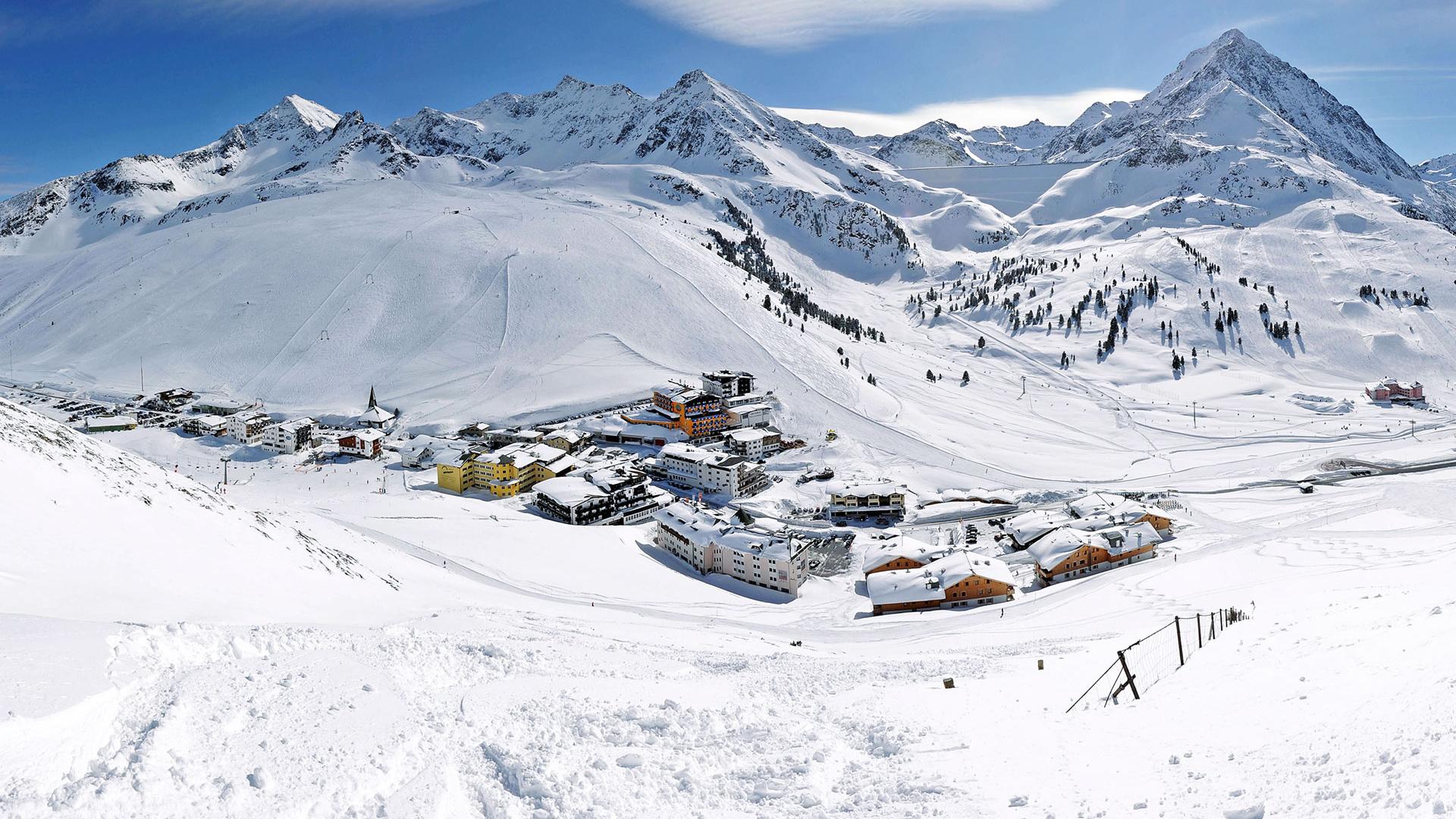 Resorts under mountains in Innsbruck, Austria
