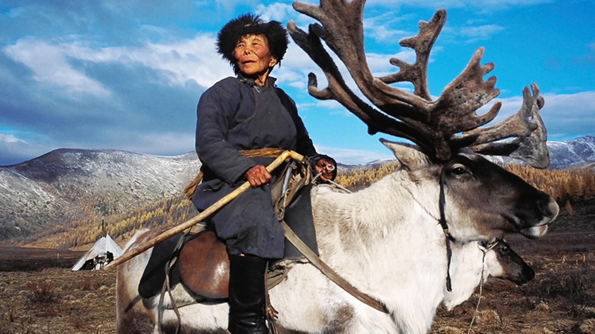 An elder tribesperson on the Mongolian steppe