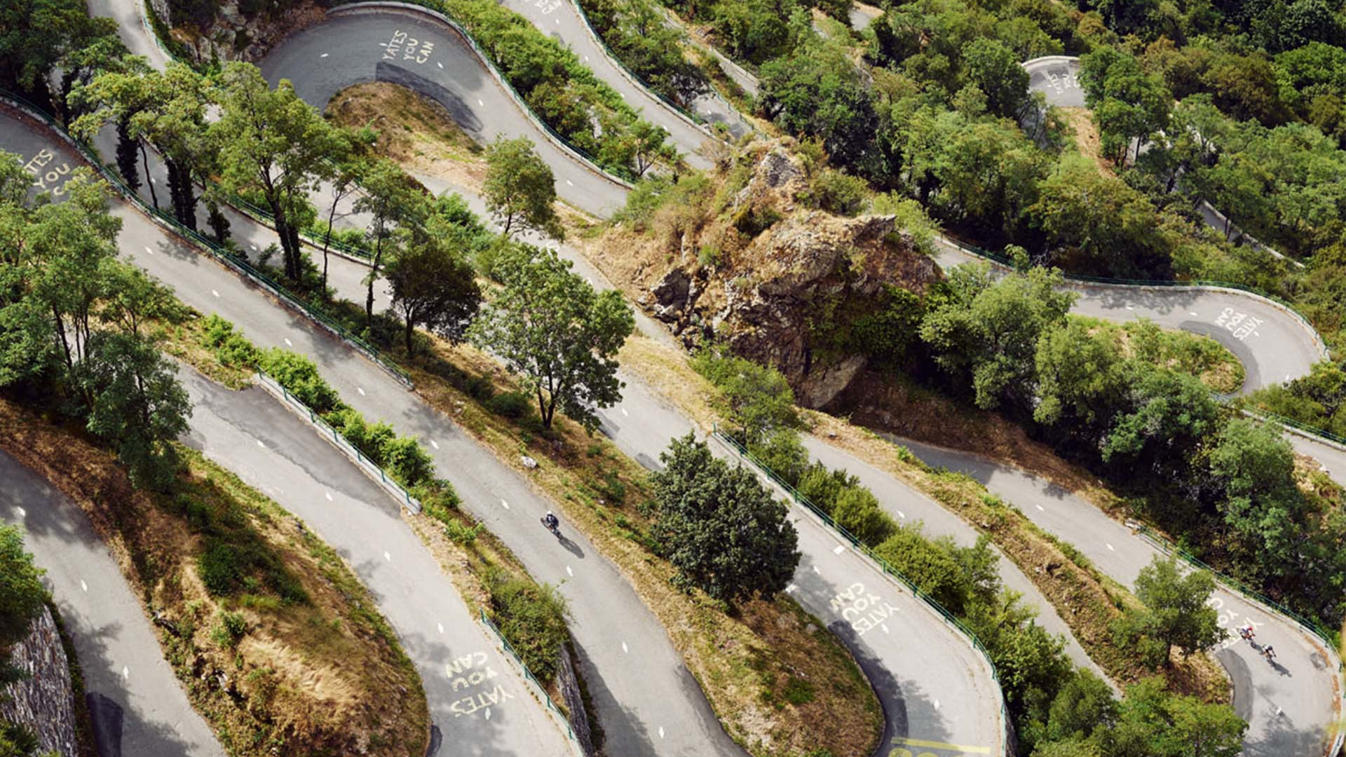 Hairpin bends in the French alps