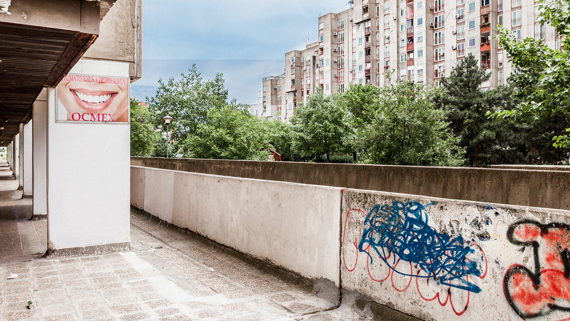Abandoned flatblock in Belgrade