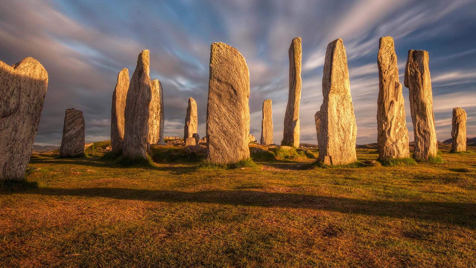 stone circle on the Isle of Lewis, Scotland