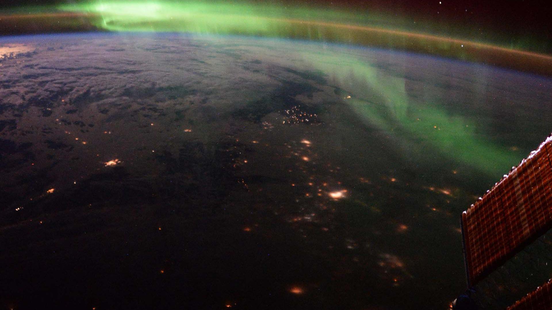 Northern lights over Calgary, Canada