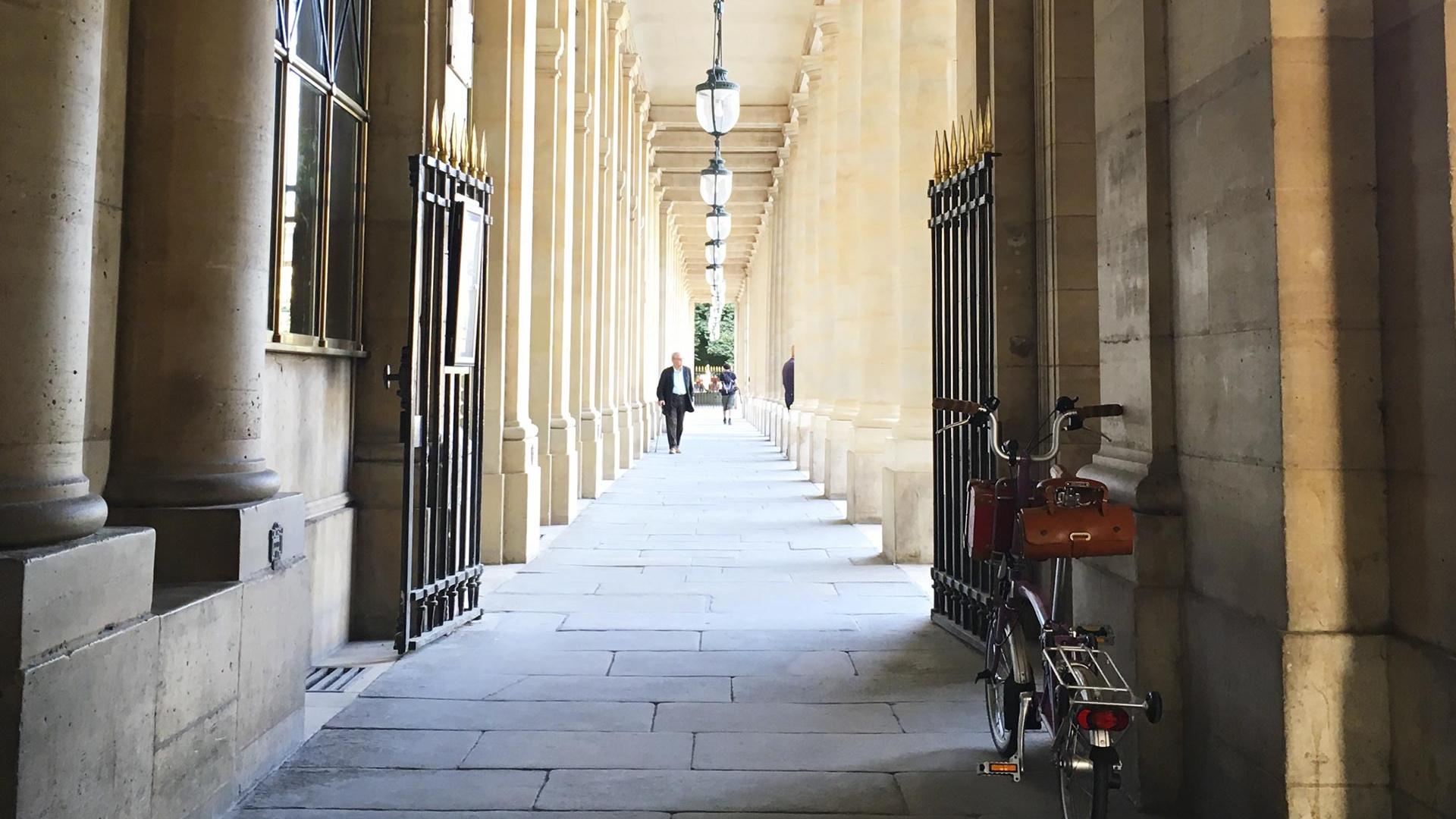 Brompton bike in Paris, France