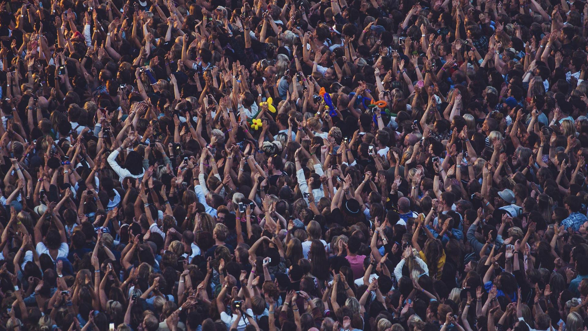 Crowd at Way Out West festival, Gothenburg