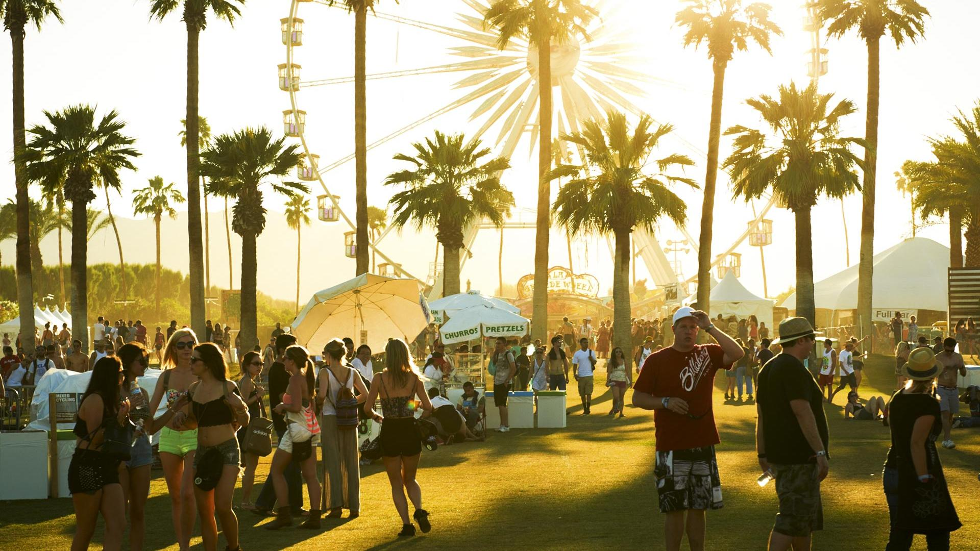 Crowds at Coachella Valley Music and Arts Festival 2016