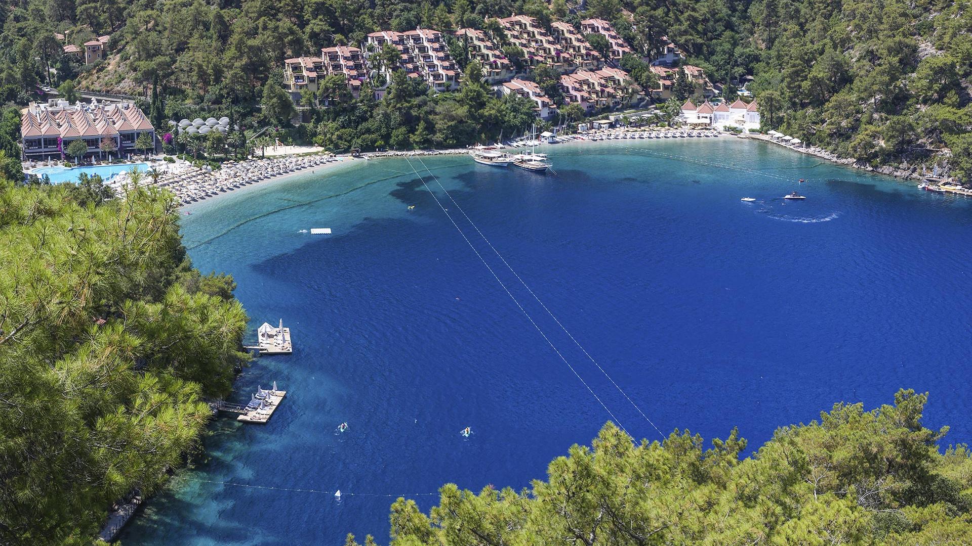 Road to adults-only beach, Hillside Beach Club, Turkey