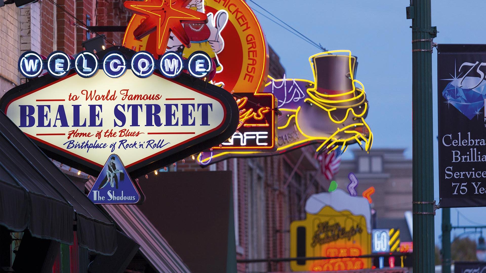 Beale Street neon lights, Memphis USA