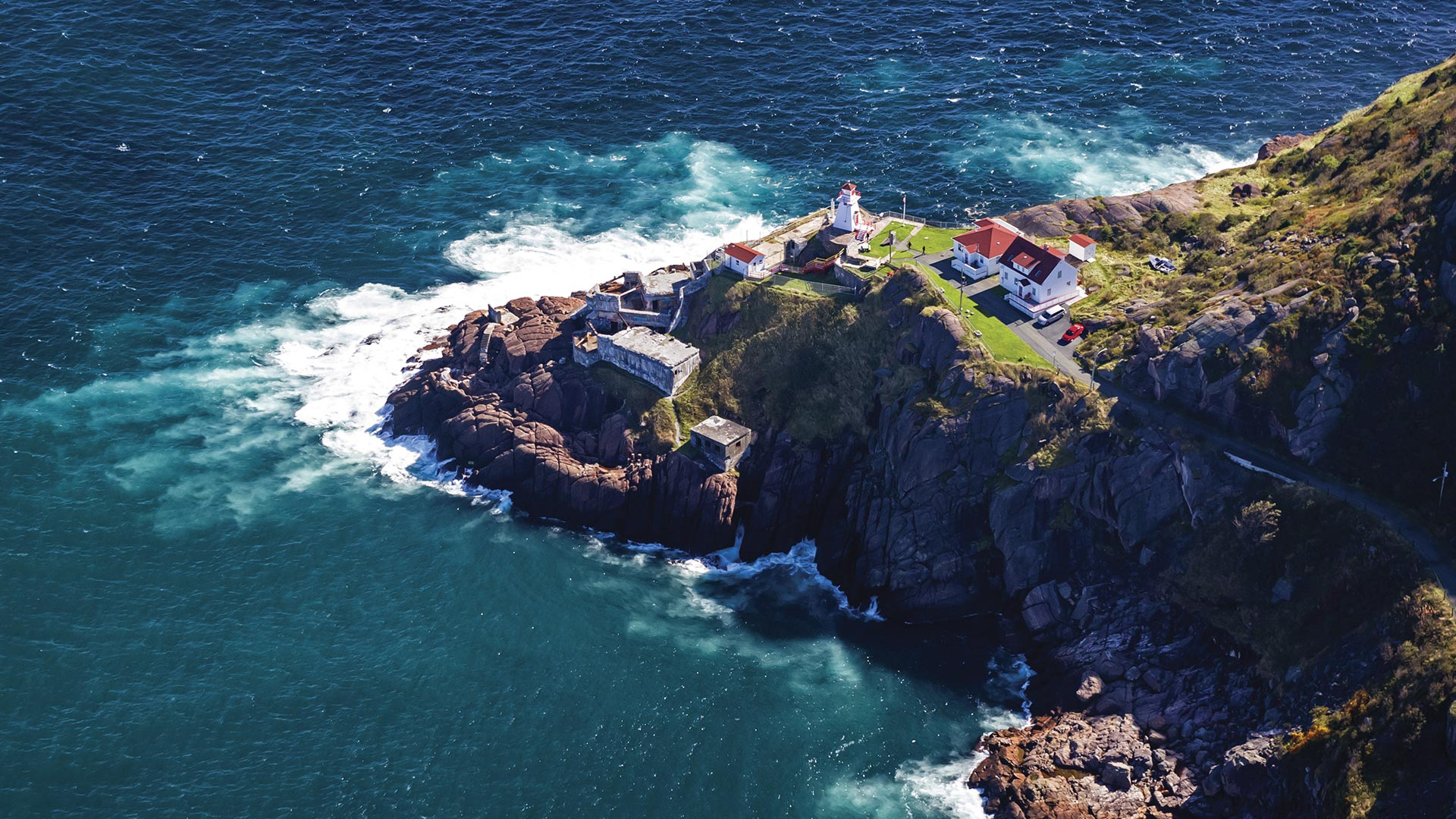Aerial view of promontory St John's NL