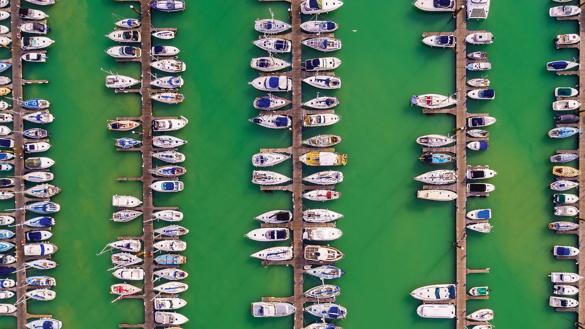 Brighton Marina from a drone