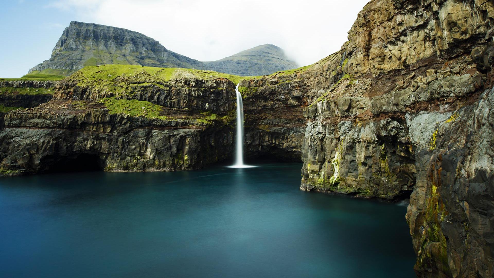 The Faroe Islands' Mulafossur waterfal