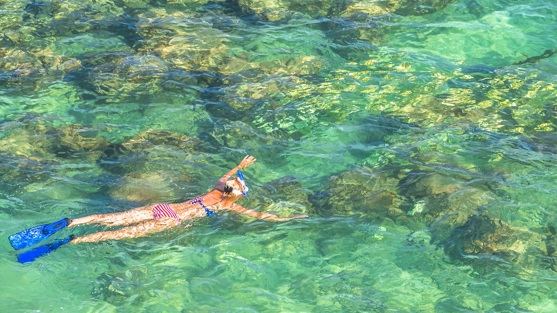 Snorkelling in clear waters