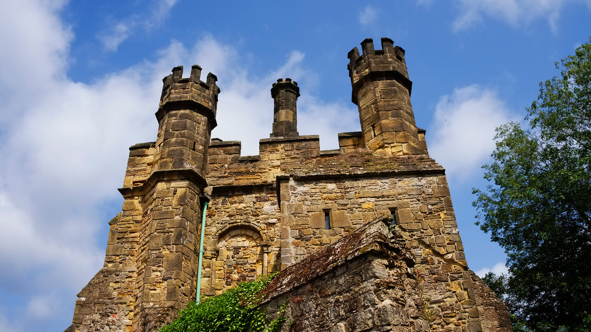 The iconic abbey in the town of Battle, built on the site of the battle of Hastings