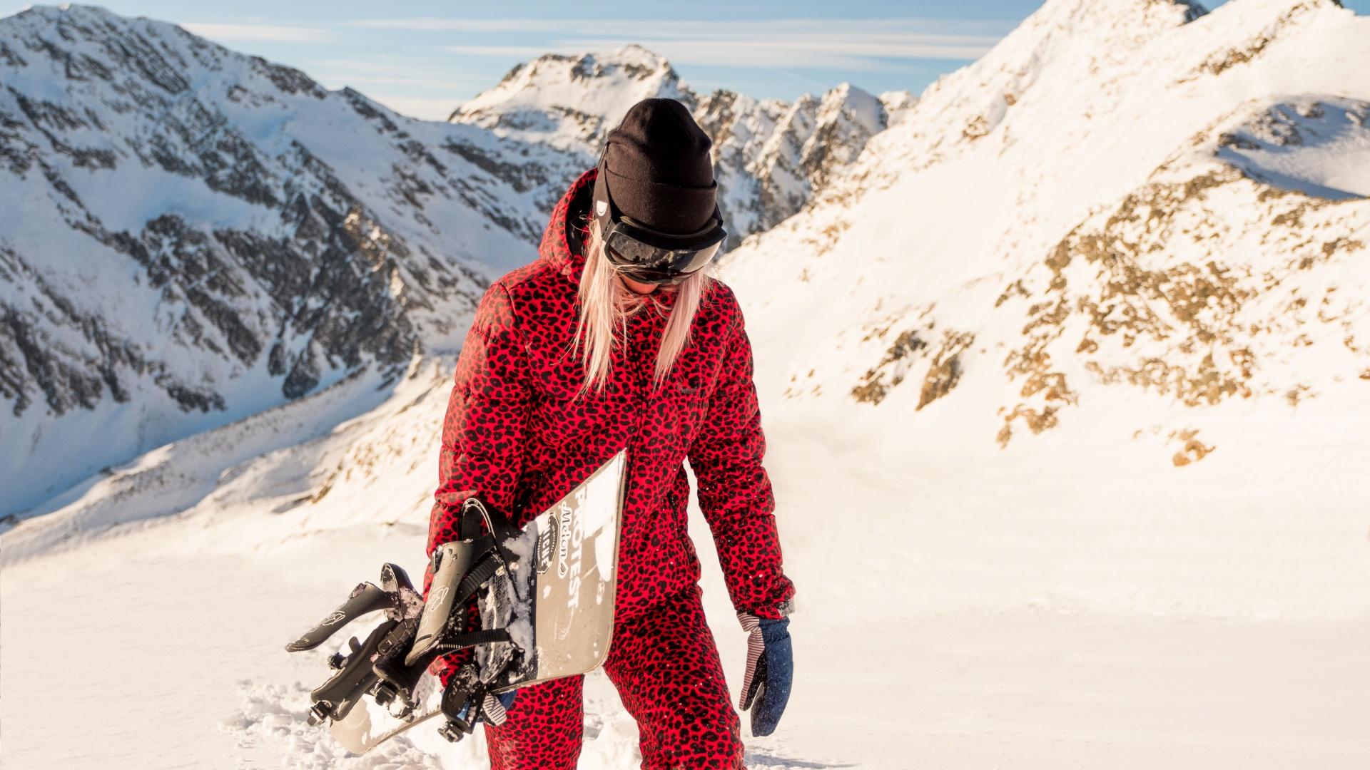 Protest's leopard print ski suit