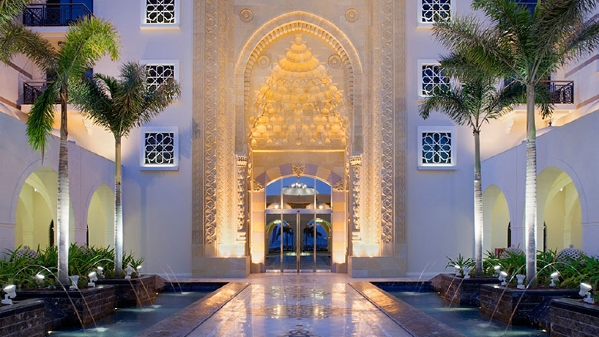 Jumeirah-Zabeel-Saray---Front-Entrance-Walkway---dusk