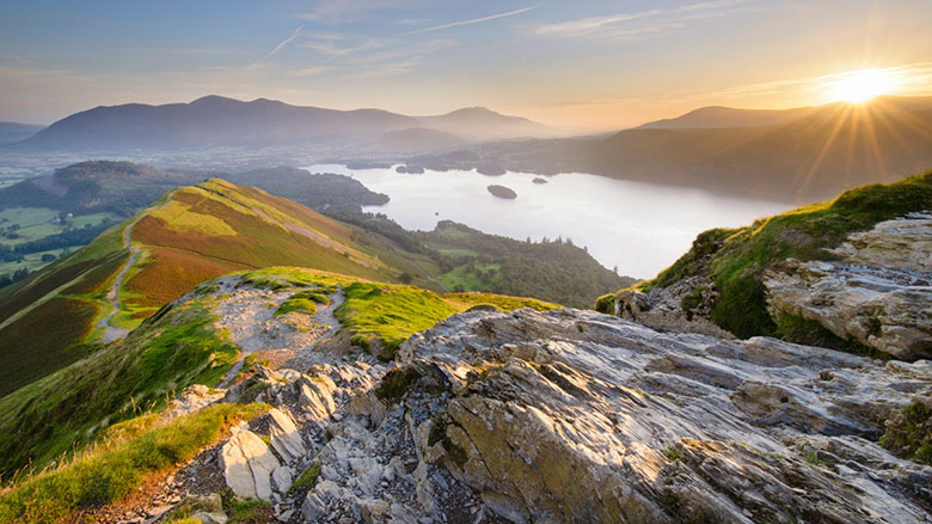 Catbells-Sunrise,-Cumbria,-by-Bart-Heirweg,-(Take-a-view,-2013)