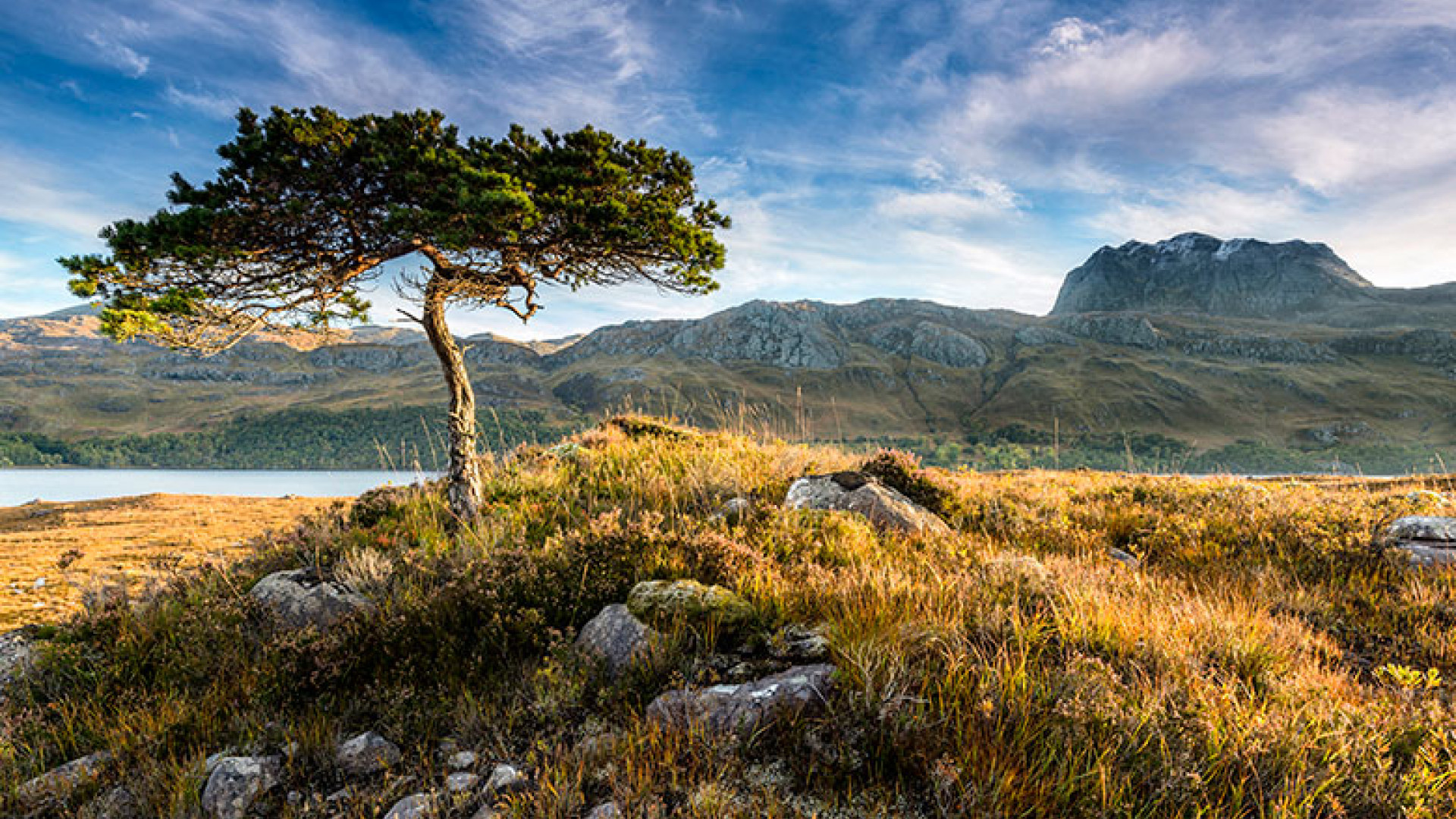 Towards-Slioch-at-Dawn,-from-Loch-Maree,-Wester-Ross,-Scotland-by-Jim-Robertson-(Take-a-view,-2013)-