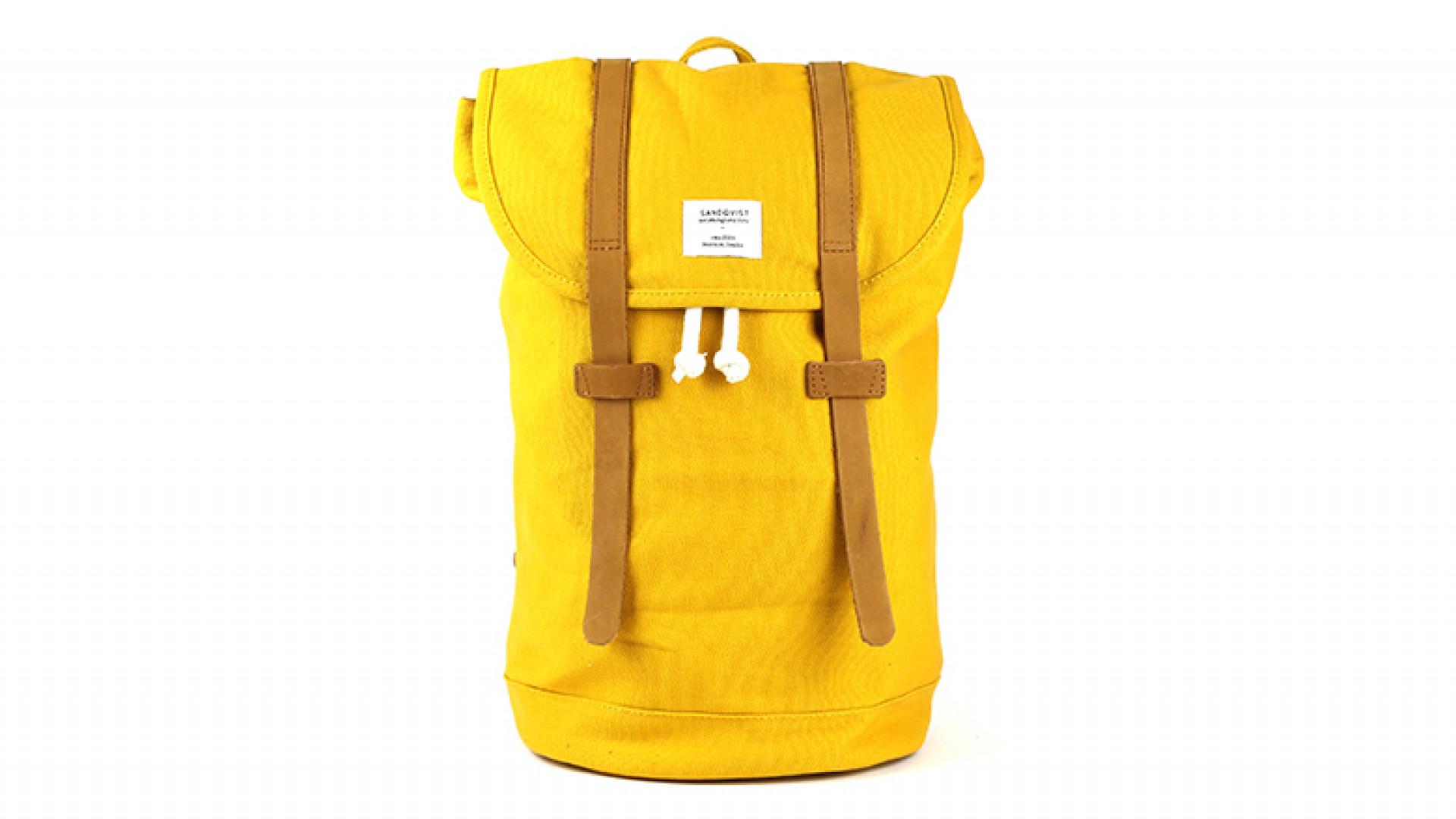 SANDQVIST-Yellow-Canvas-Stig-Backpack-90GBP
