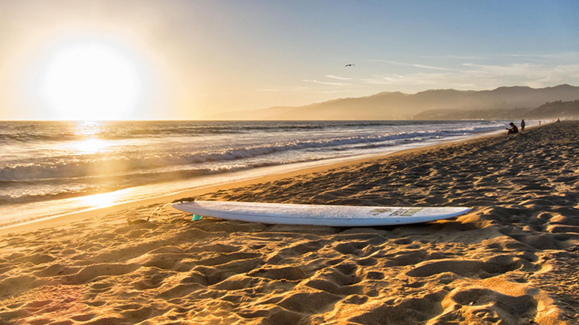Beach-and-Surfboard