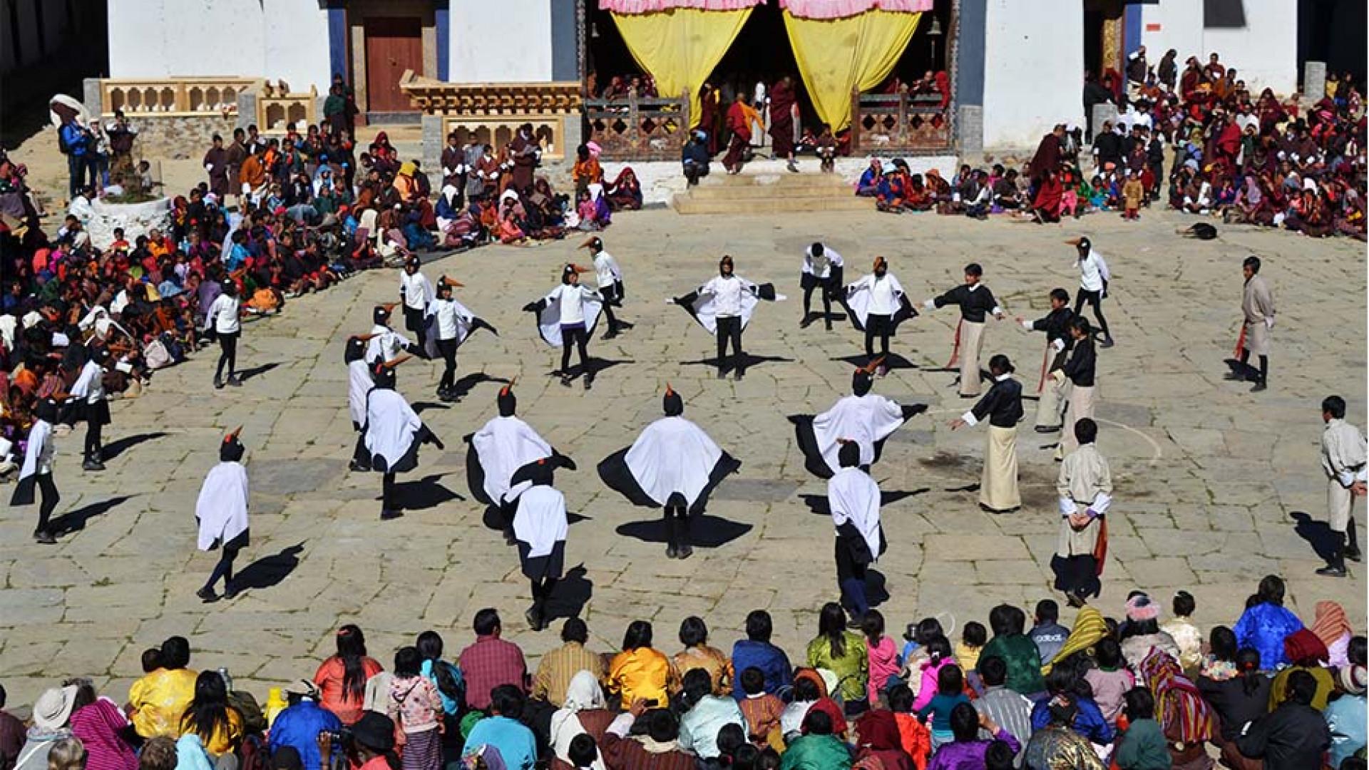 Crane dance in Bhutan