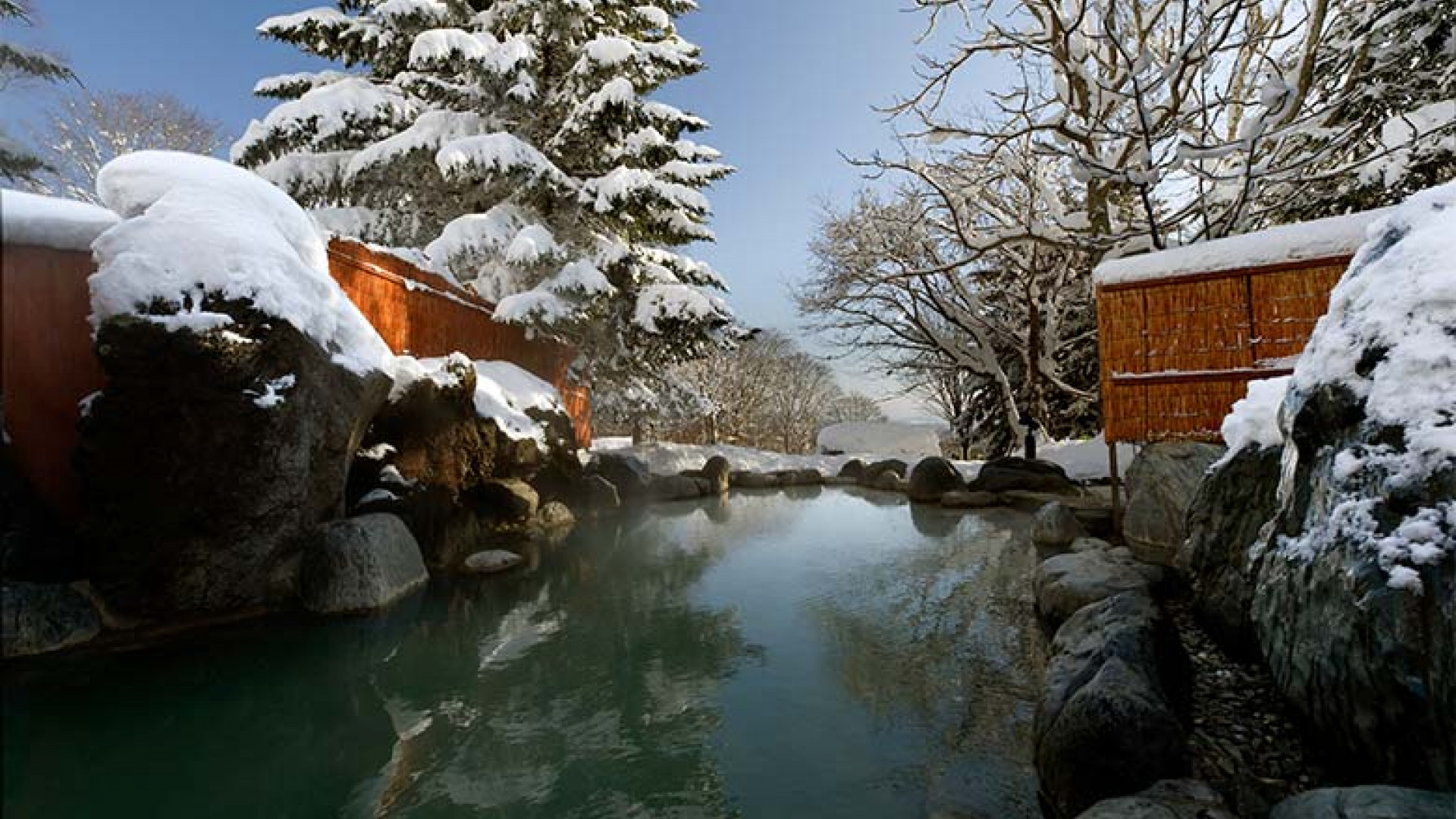 The onsen at the Greenleaf hotel, Japan