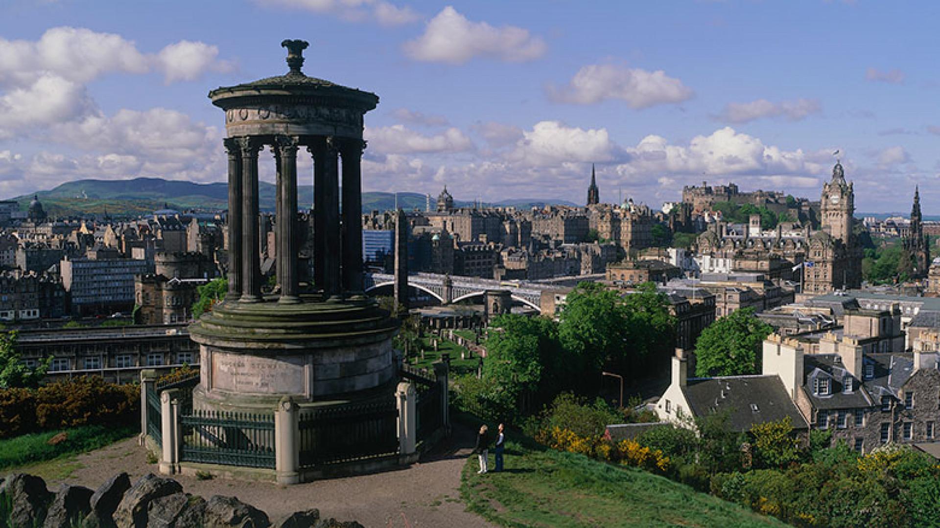 Calton Hill view Edinburgh