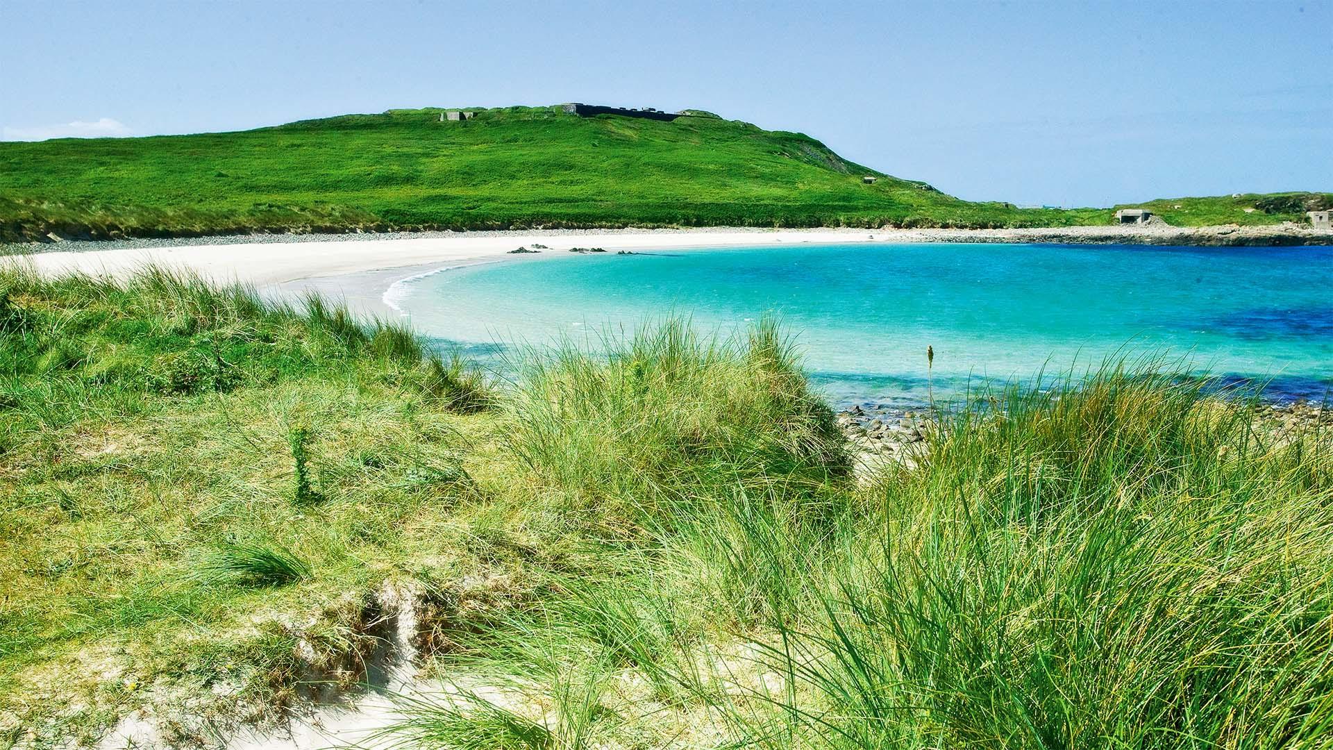 Alderney beach in Guernsey, Channel Islands