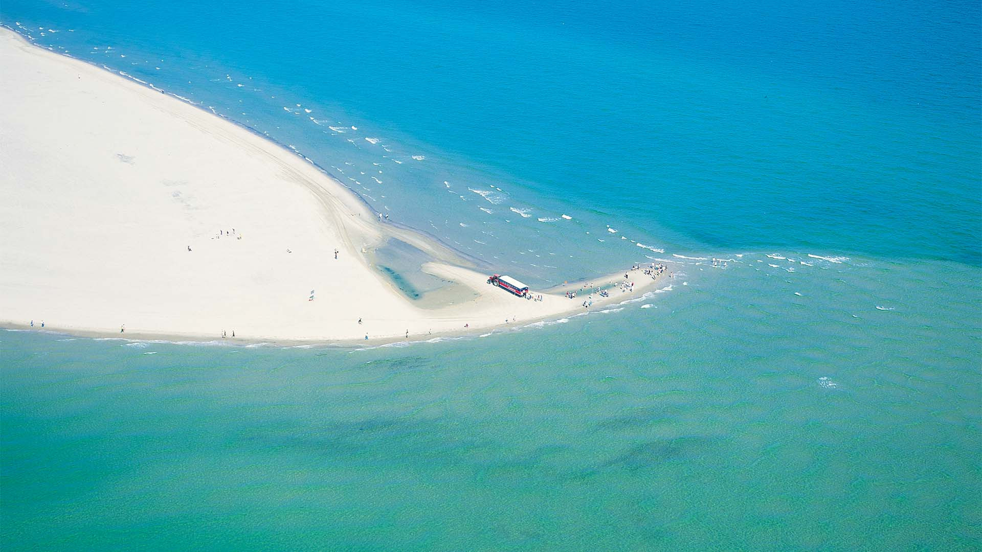 Grenen is a popular site for winter swimmers