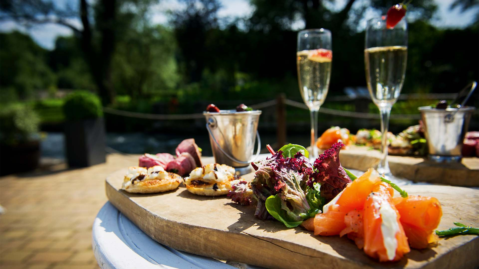 Fizz and canapés in the Cotswold sun