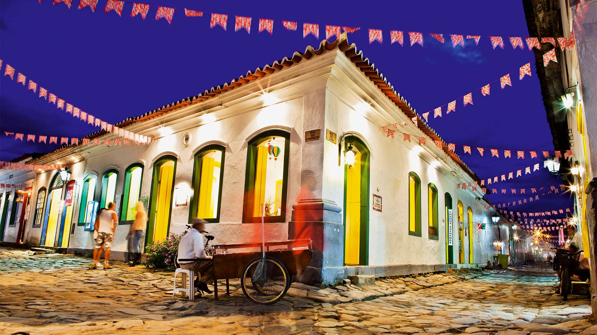 Photograph of Paraty's historic buildings and streets