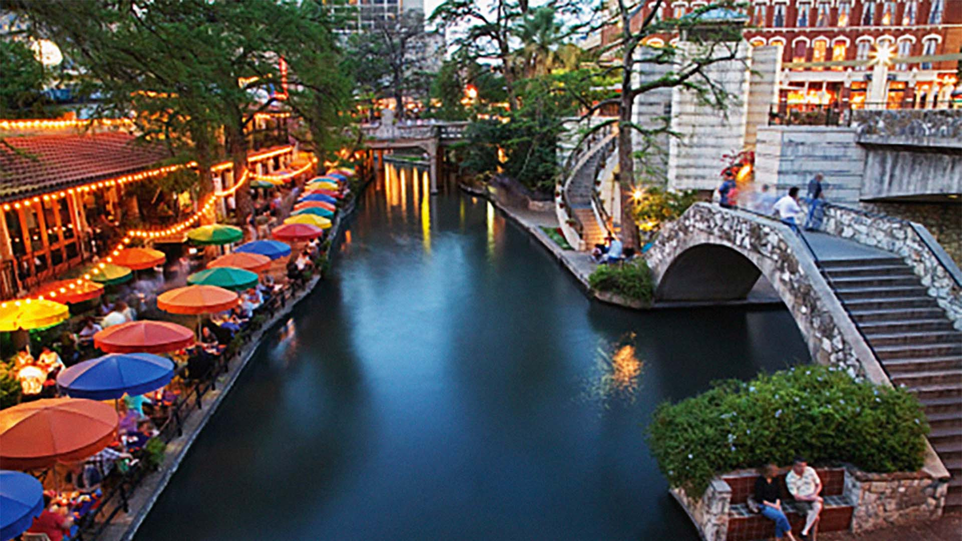 San Antonio River in the evening
