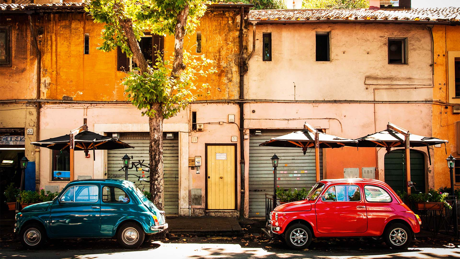 Fiat 500s in Rome, Italy