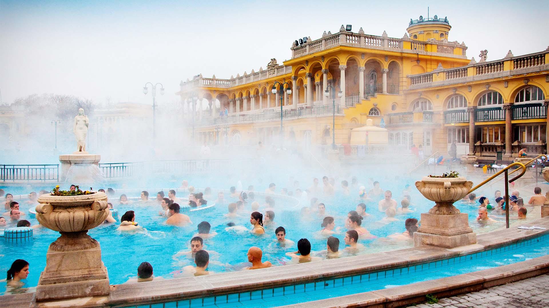 Hot baths in Budapest