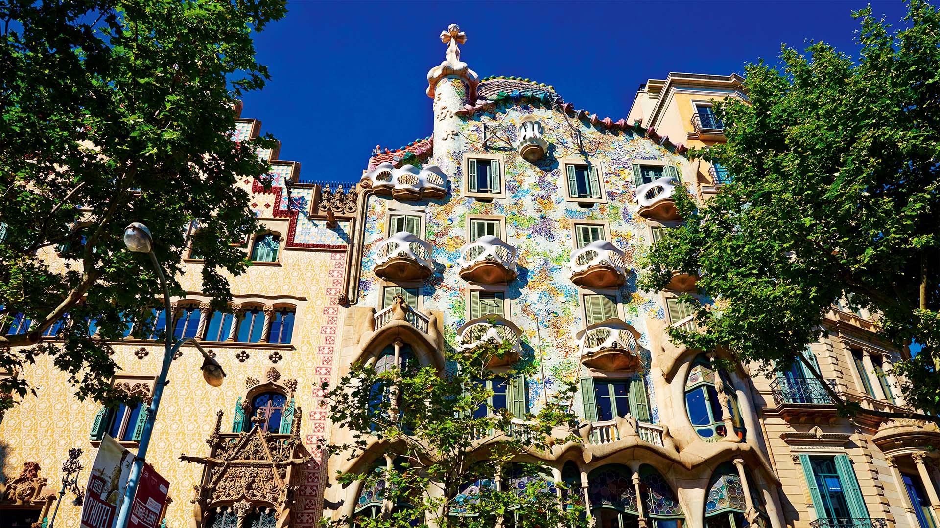 Architecture of Gaudi in Barcelona, Spain