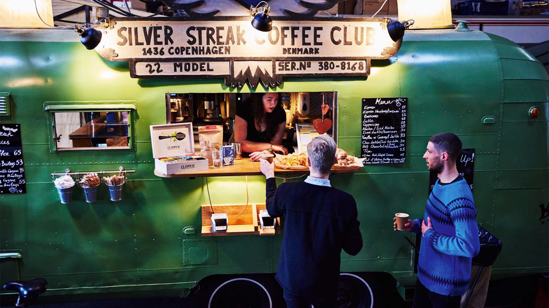Street food vendors in Copenhagen