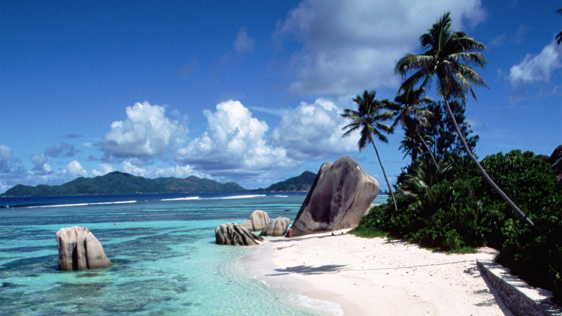 White beaches and sandy shores, Seychelles