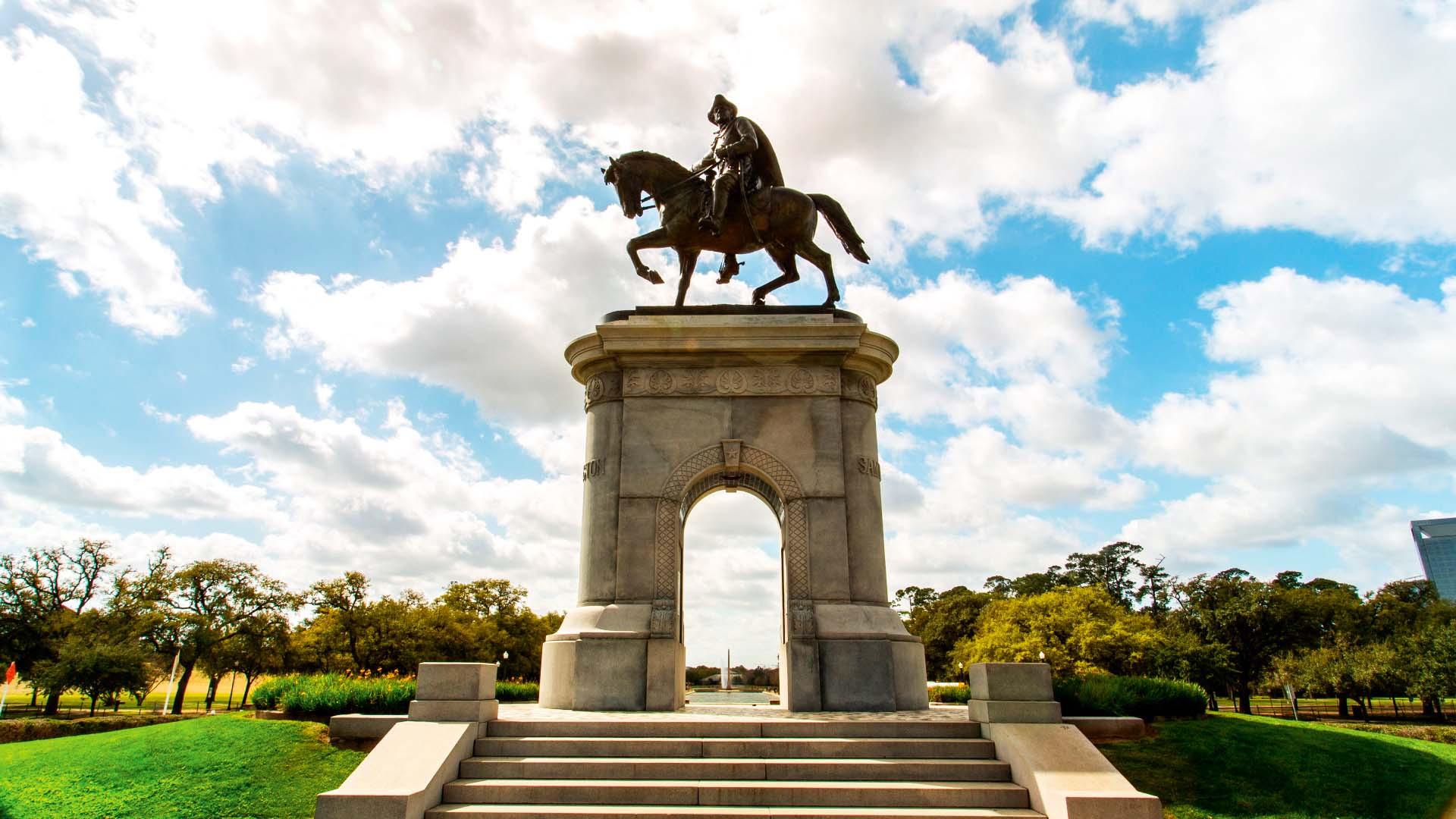Sam Houston Statue in Hermann Park, Houston, Texas