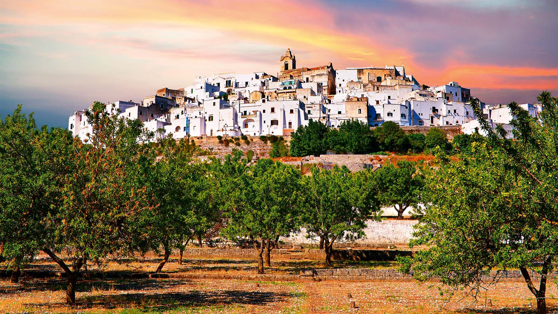Medieval fortified town of Ostuni, The White Town, Puglia, Italy